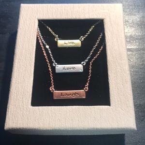Live Laugh Love necklace set